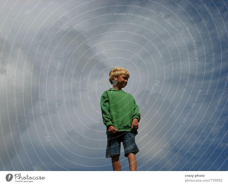 Child Sky Joy Clouds Far-off places Boy (child) Freedom Happy