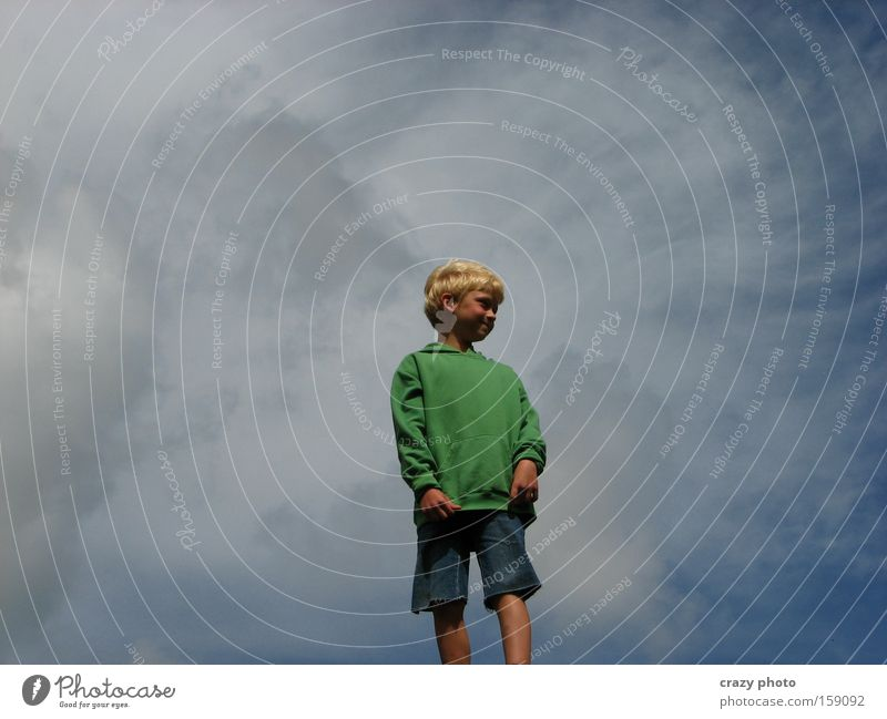 Child Sky Joy Clouds Far-off places Boy (child) Freedom Happy
