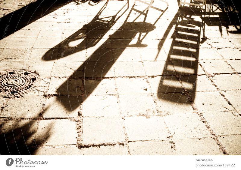 Summer Joy Warmth Stone Garden Floor covering Ground Chair Obscure Graphic Deckchair Courtyard