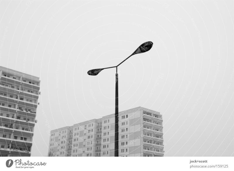 City Loneliness Calm House (Residential Structure) Winter Black Cold Environment Death Gray Line Moody Facade Ice Authentic Trip