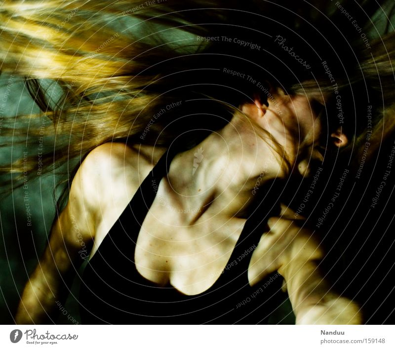 Woman Human being Hair and hairstyles Dance Dance event Force Underwater photo Gale Music Strong Thunder and lightning Dynamics Light Surrealism Make music