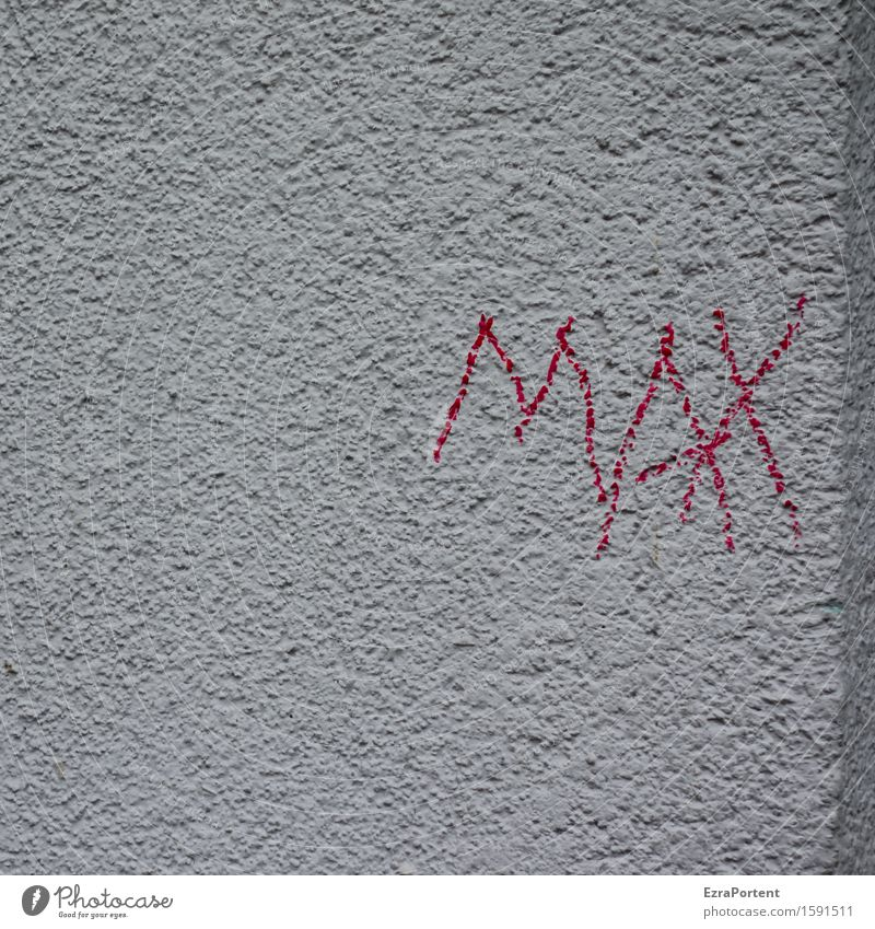 Red House (Residential Structure) Wall (building) Graffiti Building Wall (barrier) Gray Stone Facade Characters Concrete Corner Sign Minimalistic Name Maximized