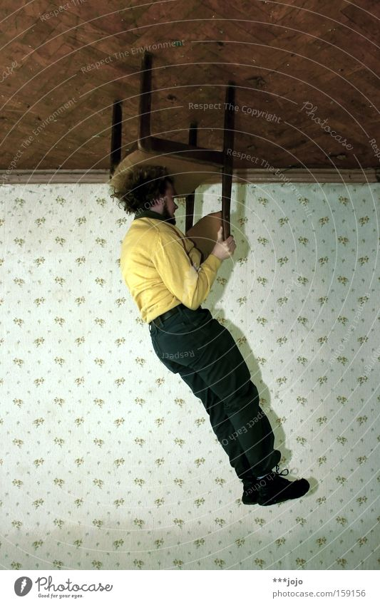 just hang out. [weimar 09] Chair Man Hang Ceiling Wallpaper Rotated Edge Action Go crazy Circus Acrobat Illusion Extreme sports Playing Speed 180° view7
