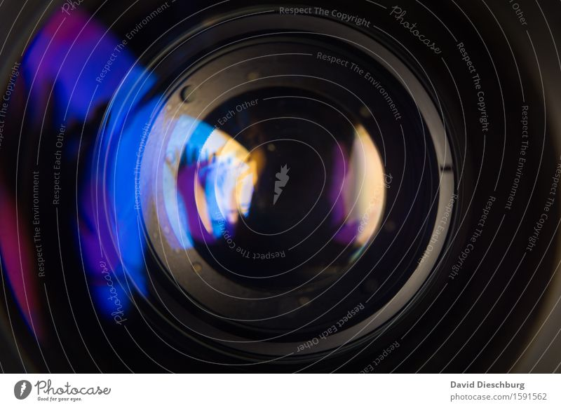 lentil Leisure and hobbies Glass Blue Gray Violet Black Turquoise Lens Photography Video Objective Landscape format Equipment Camera Video camera Refraction
