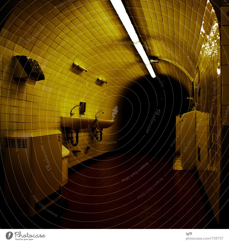 at the end of the rainbow Public service Tunnel Dangerous bathroom atmosphere shower cabin brand public toilet WC lighting design dark end