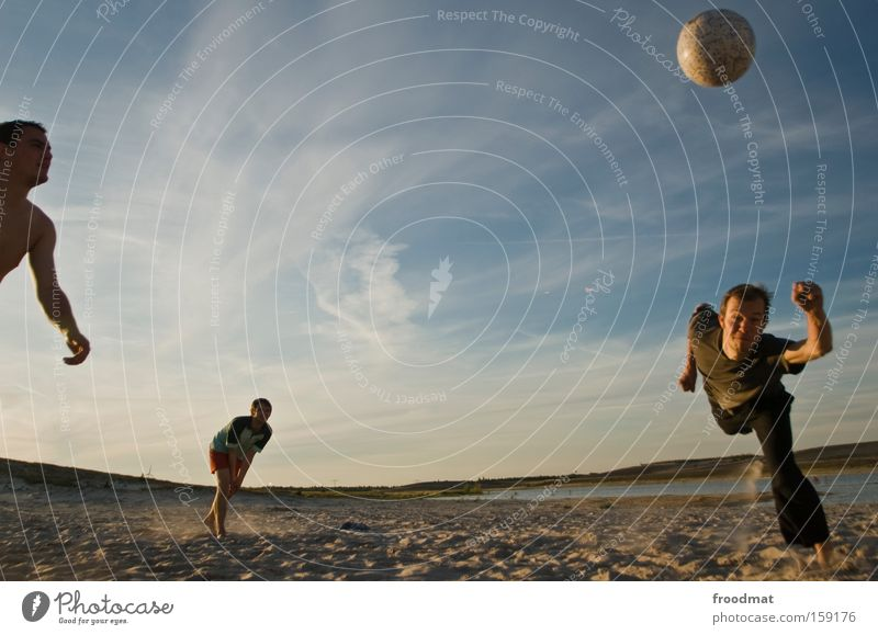 points game Silhouette Sand Ball Sun Back-light Youth (Young adults) Cool (slang) Warmth Athletic Playing Sunset Volleyball (sport) Jump Man Barefoot Tension