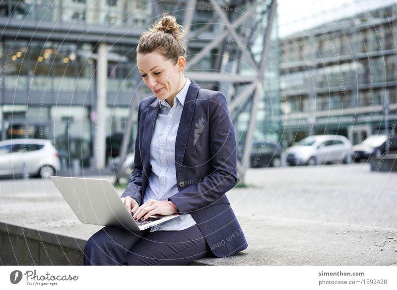 outdoor Lifestyle Style Academic studies Study University & College student Business Career Success Notebook Technology Advancement Future Feminine 1