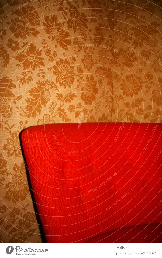 """<font color=""""#ffff00"""">-==- proudly presents Red Wallpaper Pattern Armchair Room Retro Style Bedroom"""