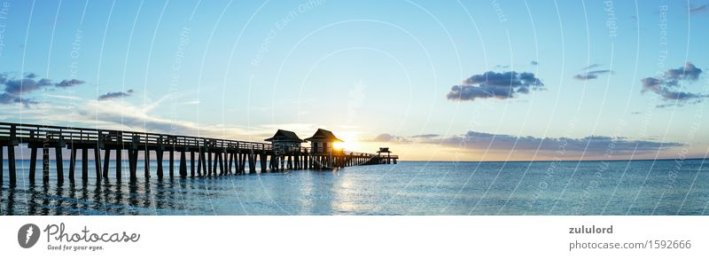 The Pier Vacation & Travel Summer Beach Ocean Waves Environment Nature Water Sky Horizon Sunrise Sunset Beautiful weather Coast Blue Turquoise Romance Freedom