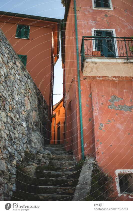 Old House (Residential Structure) Wall (building) Wall (barrier) Facade Orange Stairs Village Alley Town