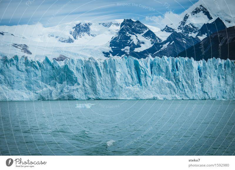 blue Winter Mountain Glacier Coast Cold Blue White Change Perito Moreno Glacier Edge Glacier ice Subdued colour Deserted Copy Space bottom Copy Space middle