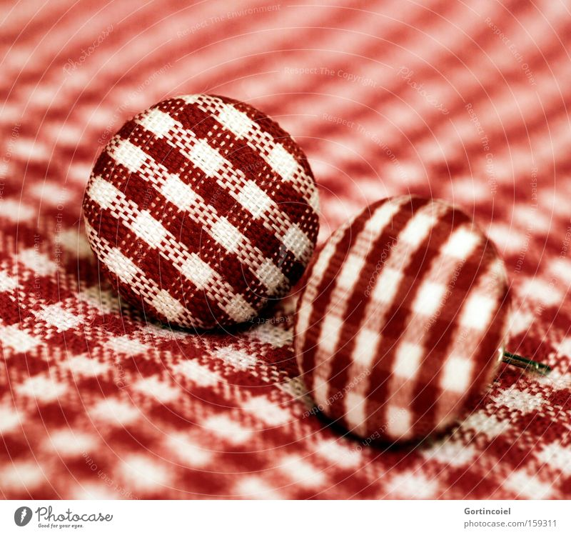 Beautiful White Red Style Design Retro Decoration Cloth Jewellery Depth of field Checkered Earring Accessory Rockabilly The fifties Forties