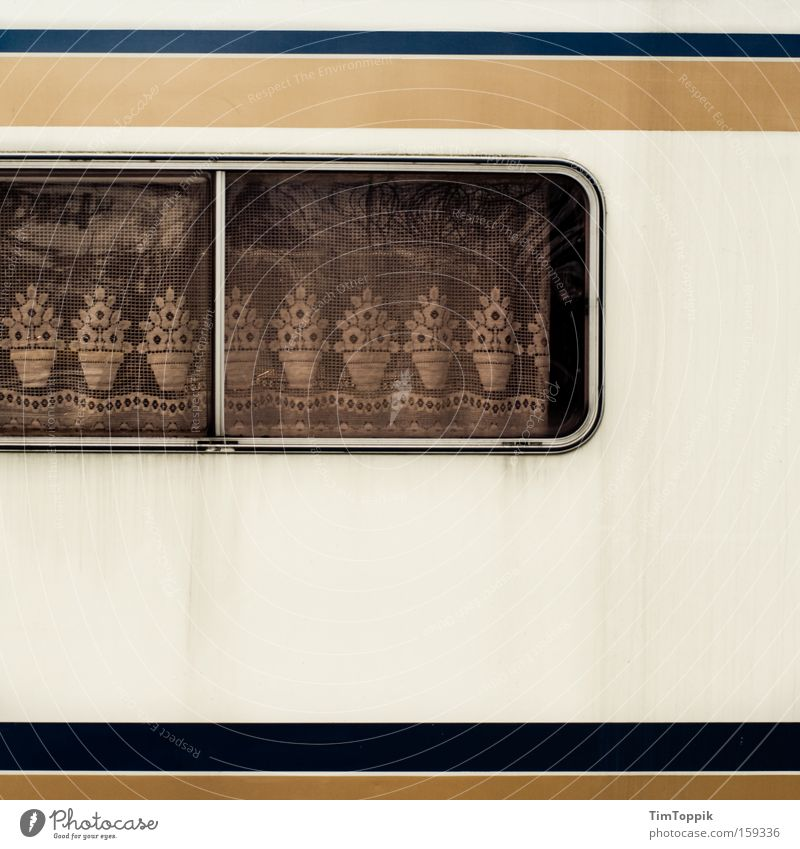 Sweet Home Caravan Mobile home Camping Curtain Window Vacation & Travel Lace Petit bourgeois Living or residing Camping site Drape Mobility German Cozy