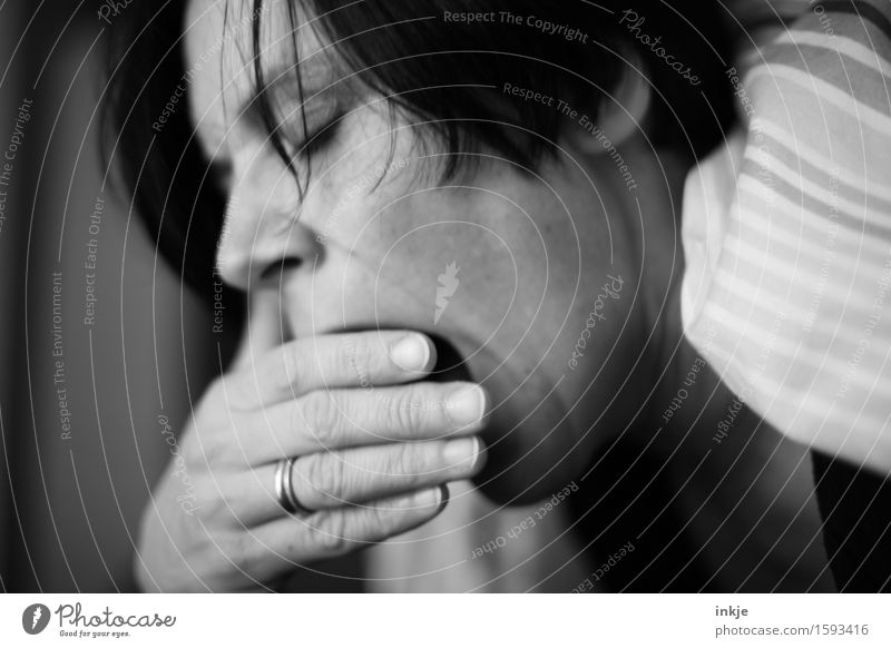Human being Woman Hand Relaxation Calm Face Adults Life Emotions Moody Living or residing Leisure and hobbies Bed Fatigue Cuddly Gesture