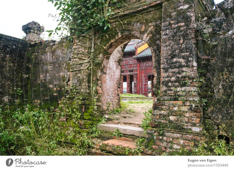 Gate in the imperial city of Hue (Vietnam) Adventure Far-off places Freedom Sightseeing City trip Expedition Architecture Asia Small Town Downtown Deserted