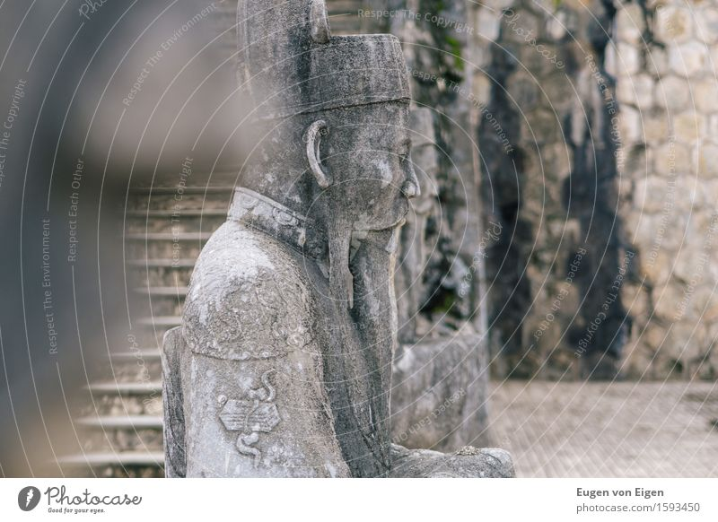 Mandarin statue in the imperial grave of Hue (Vietnam) Vacation & Travel Tourism Trip Adventure Far-off places Freedom Sightseeing Expedition Art Sculpture