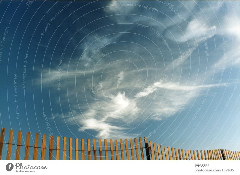 Nature Sky Blue Clouds Freedom Landscape Air Weather Border Fence