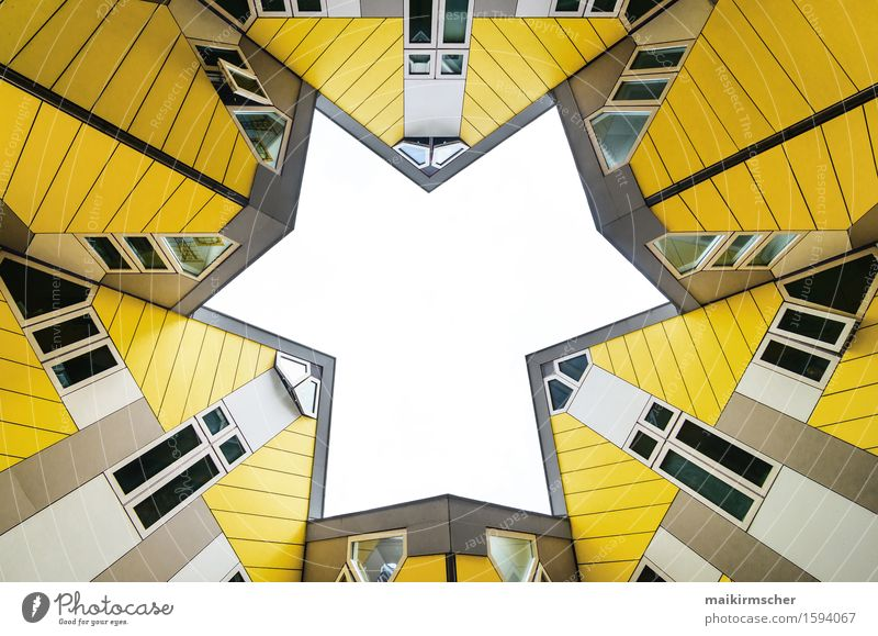City Colour House (Residential Structure) Black Yellow Architecture Building Exceptional Design Tourism Arrangement Modern Future Point Star (Symbol) Network