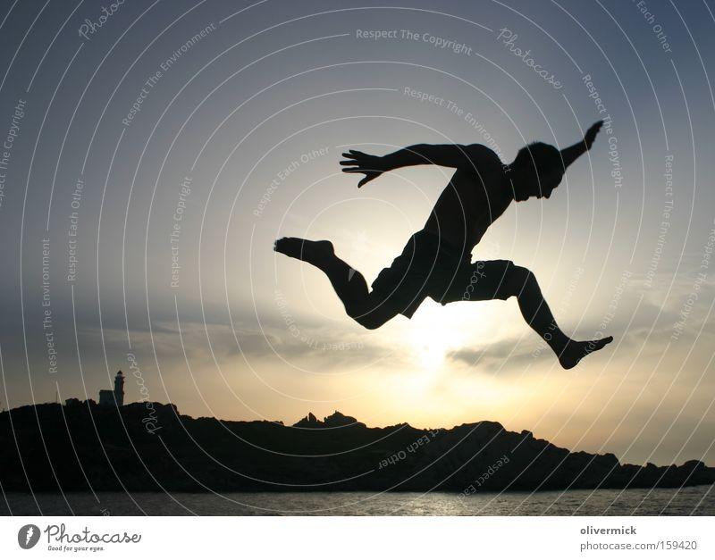 The flo jumps Jump Joy Happy Sardinia Vacation & Travel Vacation mood Shadow Back-light Contrast