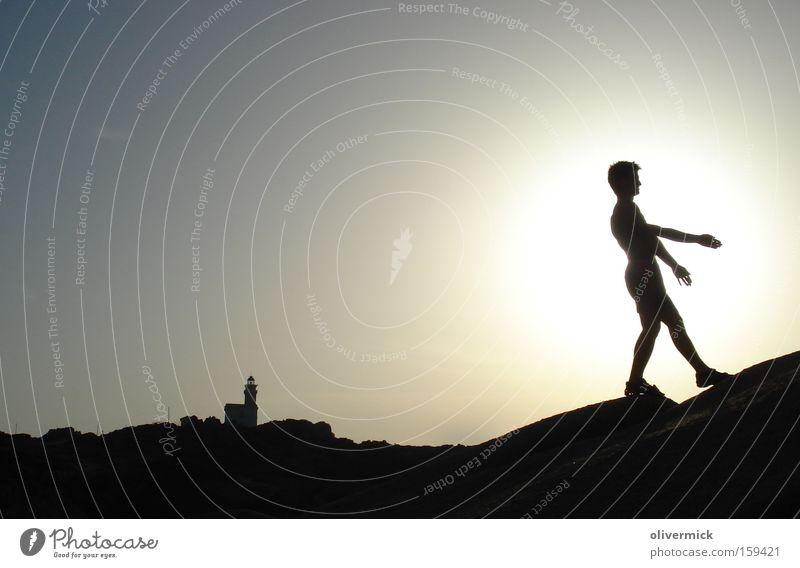 Walk The Line Back-light Sun Vacation & Travel Sardinia Roof Sky Light Joy Contrast