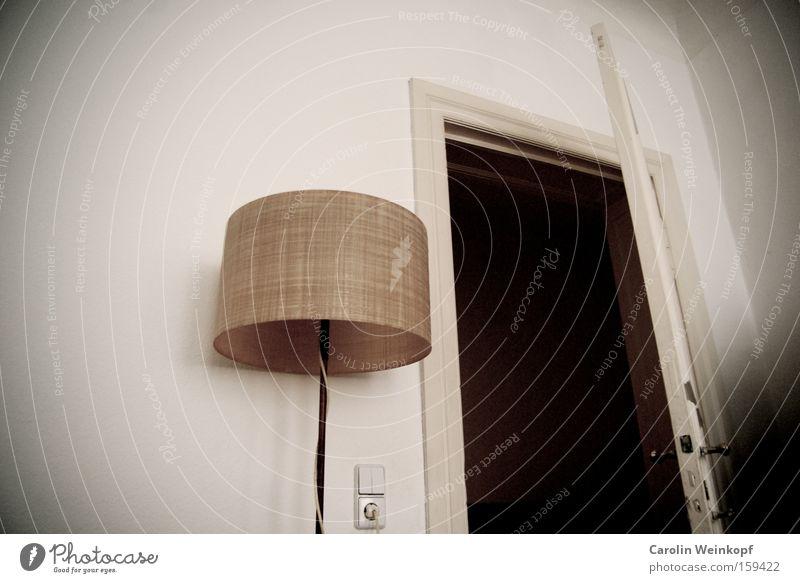 Lamp Room Door Door handle Rent Socket Old building Standard lamp Light switch Doorframe