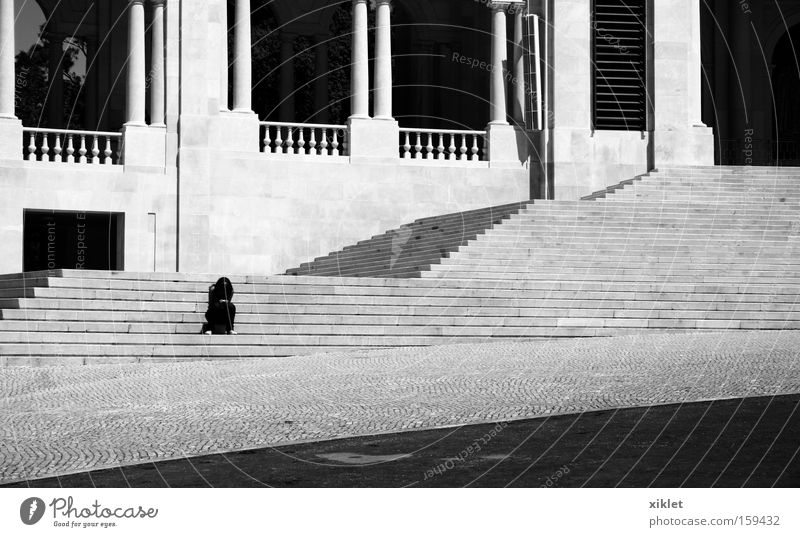 alone Summer Loneliness Sadness Stairs Grief Distress