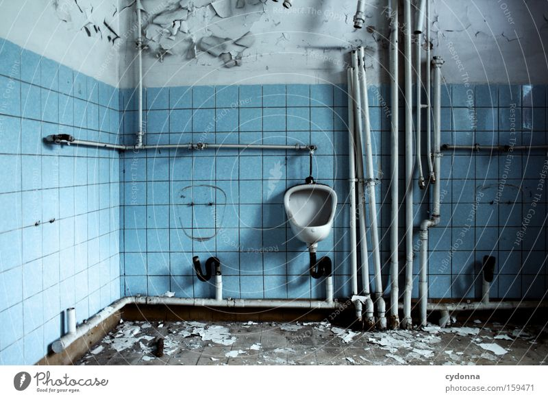 Man Old Life Room Time Bathroom Transience Toilet Derelict Decline Iron Pipe Destruction Memory Location