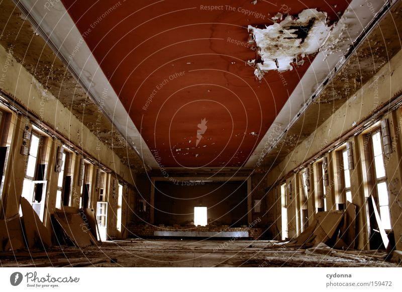 Old Life Window Room Time Transience Derelict Decline Theatre Cinema Destruction Memory Location Hall Vacancy Military building