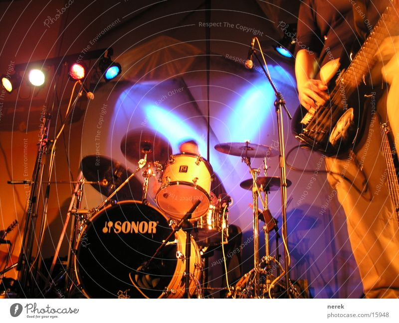 Lamp Music Dance Concert String Rock music Stage Floodlight Drum set Double bass