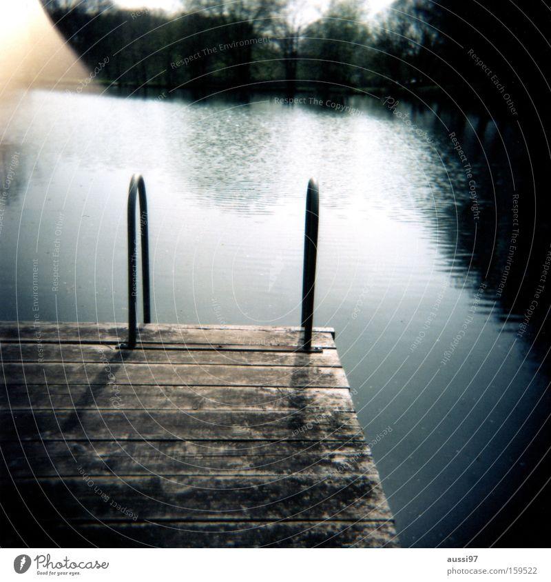 Summer Joy Vacation & Travel Relaxation Lake Holga Swimming & Bathing Analog Footbridge Refrigeration Roll film Light leak