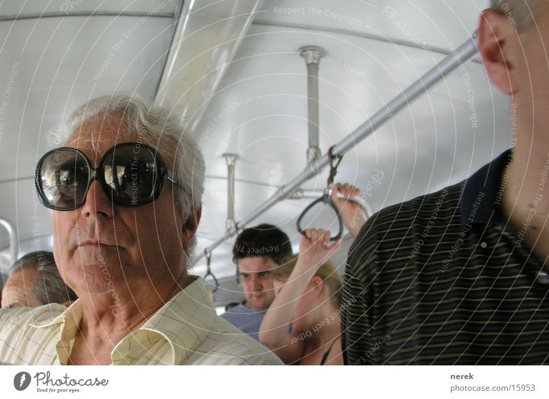 flying glasses Eyeglasses Grandfather Colossus Large Summer Tram Amazed Man Fly big Eyes Fear of the sun looks stupid