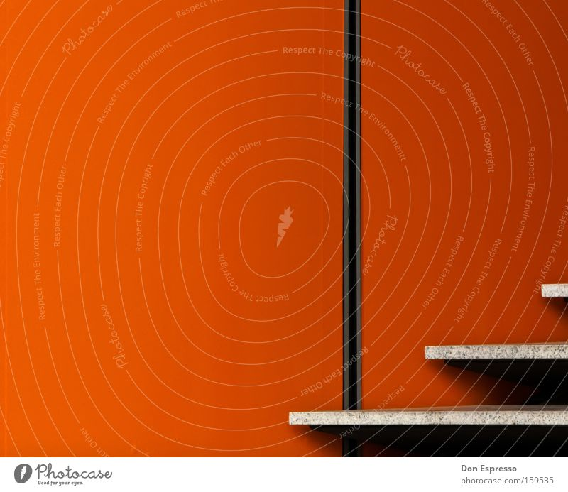 Red Colour Wall (building) Architecture Wall (barrier) Lamp Line Orange Stairs Illuminate Simple Illustration Graphic Minimal Simplistic