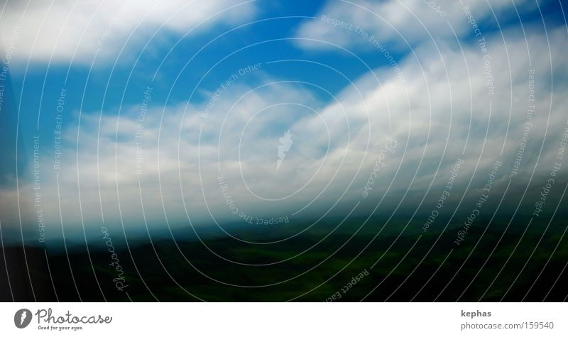 Sky White Green Blue Vacation & Travel Clouds Landscape Speed Transience Hill Past Land Feature