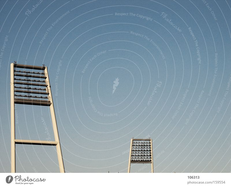 I WANT TO GO TO THE RUMMAGING PAGE OF THIS KINDERGARTEN HERE! Floodlight Light Sky Blue Sky blue Stand 2 Partner Together White Metal Metalware Stadium Open
