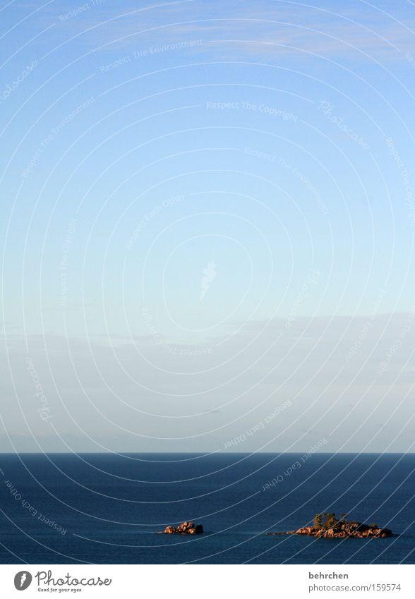 Sky Blue Beach Vacation & Travel Ocean Clouds Far-off places Freedom Dream Coast Think Waves Horizon Trip Rock Island