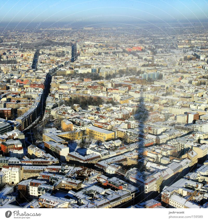 far-seeing Berlin Sky City Calm Winter Far-off places Cold Freedom Above Horizon Ice Perspective Tall Vantage point Aerial photograph