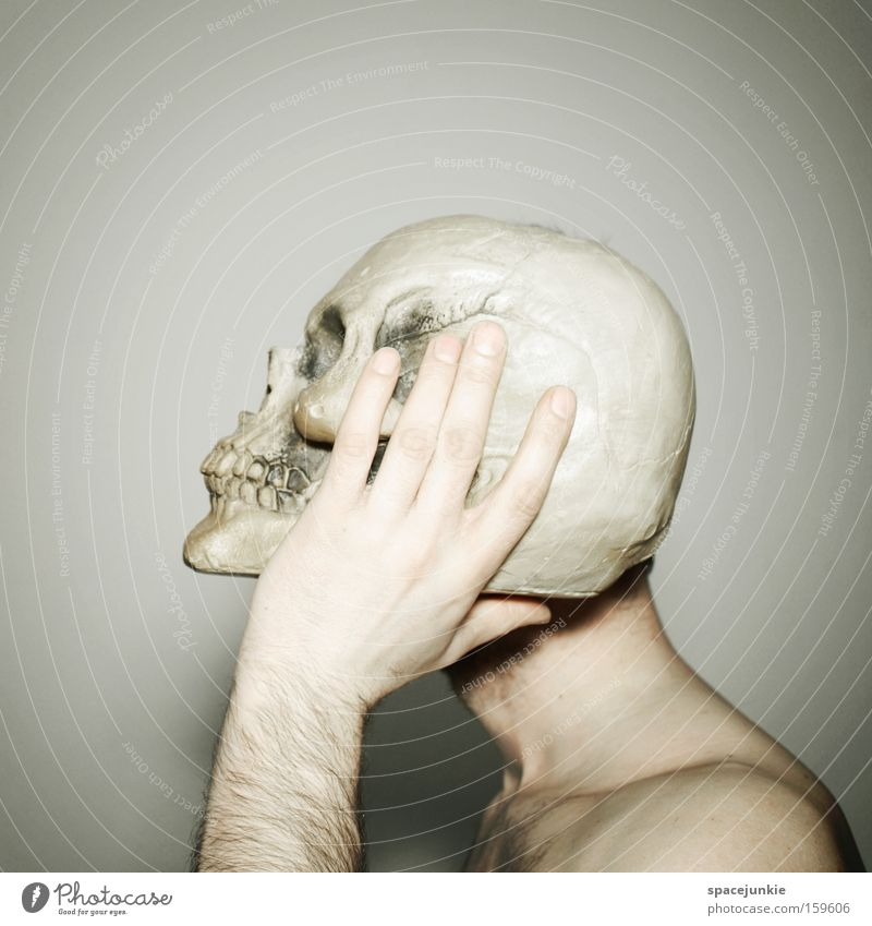 Man Joy Death Head Creepy Pain Skeleton Death's head Headache
