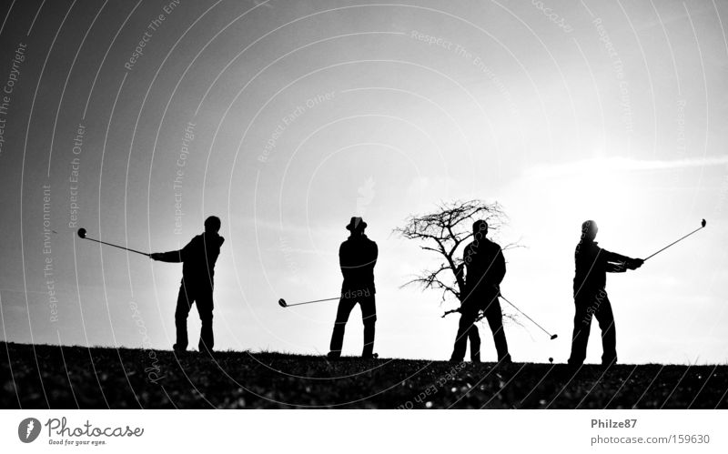 swinging friends Human being Friendship Freedom Joy Exterior shot Snapshot Silhouette Man Shadow Light Sun Back-light Landscape Leisure and hobbies Sports