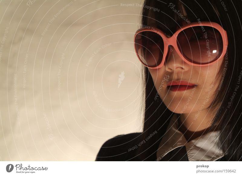Kill sonstwen Woman Portrait photograph Sunglasses Trashy Fashion Beautiful Self-confident Face Pink Style Luxury Power Force Asia combative Rose glasses