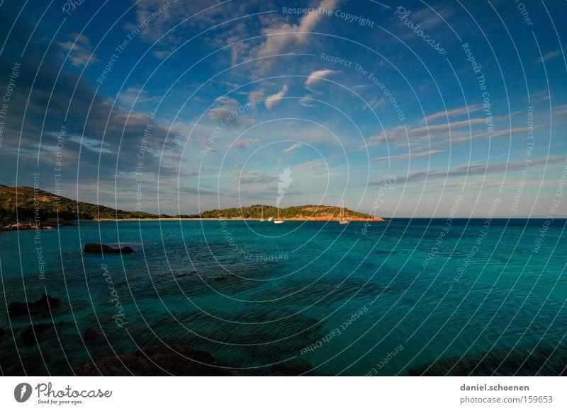 Water Sky Ocean Green Summer Beach Vacation & Travel Clouds Coast Island France Cyan Mediterranean sea Corsica