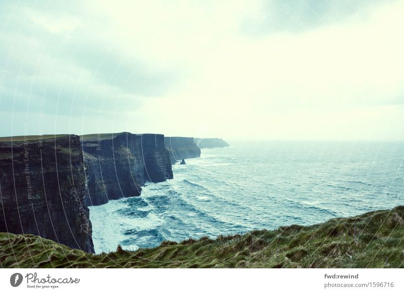 Cliffs of Moher Vacation & Travel Tourism Trip Freedom Sightseeing Ocean Waves Environment Nature Landscape Elements Water Spring Autumn Coast