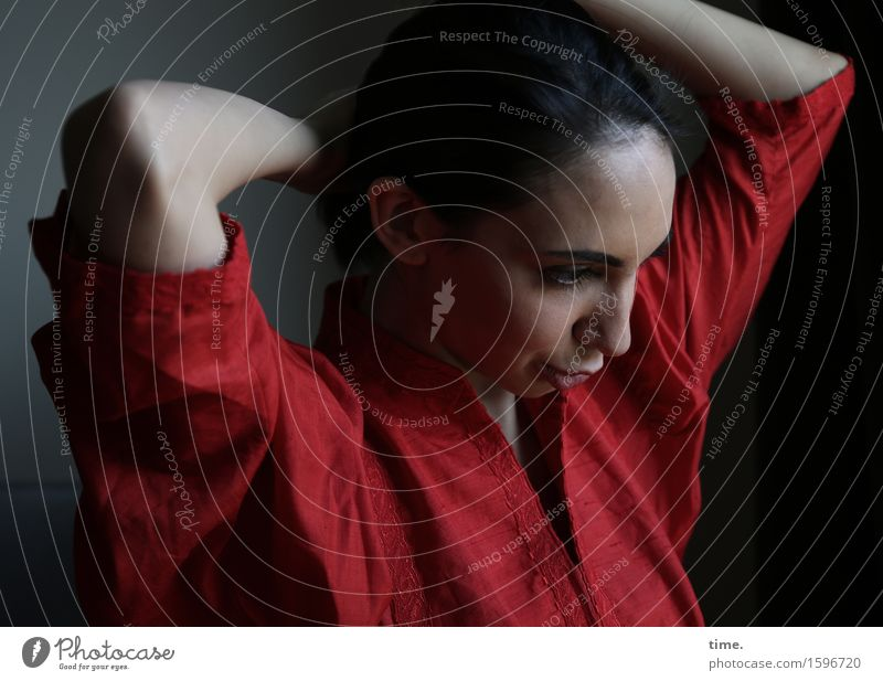 Human being Beautiful Calm Life Movement Feminine Think Time Moody Dream Elegant Esthetic Observe Change Dress Serene