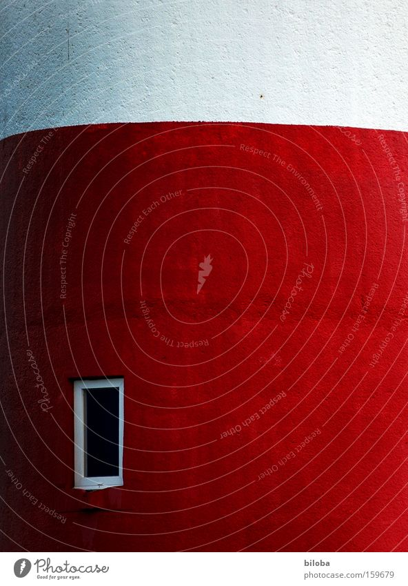 façade Lighthouse Wall (building) Facade Concrete Red White Structures and shapes Background picture Window Wall (barrier) North Sea Building Architecture Beach