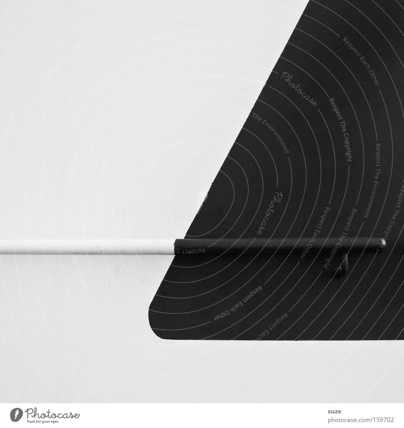 round corner Style Design Watercraft Metal Black White Wall (building) Illustration Geometry Handrail Division Colorless Structures and shapes Minimalistic