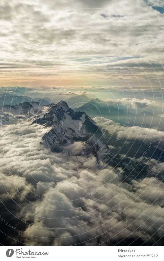 On the roof Freedom Winter Snow Mountain Landscape Elements Air Clouds Sunrise Sunset Weather Alps Zugspitze Peak Gigantic Infinity Soft Moody Insbruck