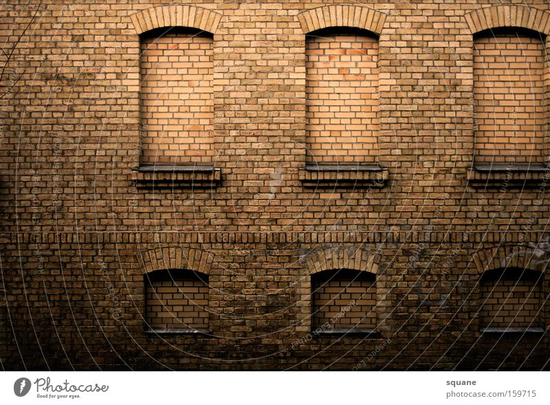 House (Residential Structure) Window Wall (barrier) Building Transience Derelict Brick Ruin Arch Penitentiary Uninhabited Brick wall Enclosed Brick facade Burglar-proof