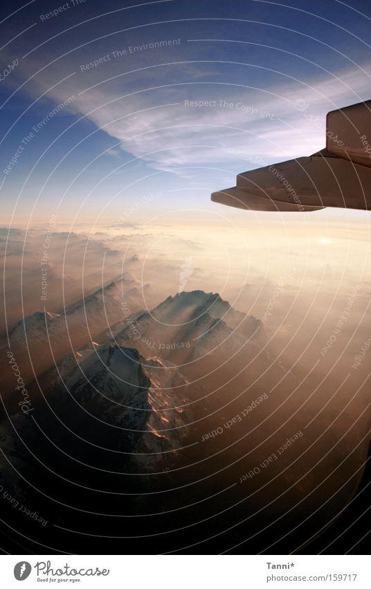 Sky Blue Clouds Mountain Airplane Flying Aviation Alps Tile Austrian Alps Swiss Alps Italian Alps German Alps Air show