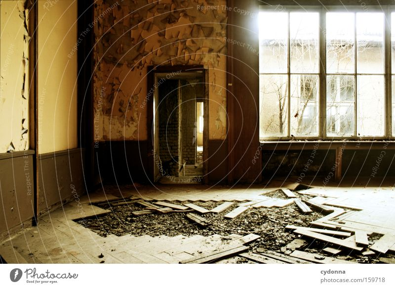 Old Life Window Room Time Living or residing Transience Derelict Decline Destruction Parquet floor Memory Location Vacancy Vandalism Military building