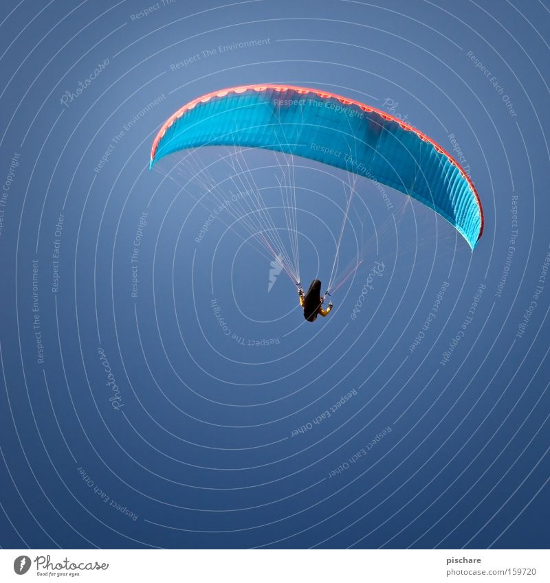 Sky Blue Sports Playing Freedom Warmth Wind Flying Aviation Hover Umbrellas & Shades Paragliding Height Parachute Flying sports Weightlessness