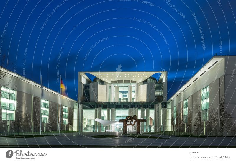 head office Berlin Capital city House (Residential Structure) Building Architecture Tourist Attraction chancellery building Federal Chancellery Large Modern